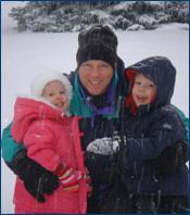 Dr. Jeffrey Bushnell and his children